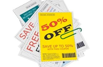 Coupon Clippings With Paper Clip