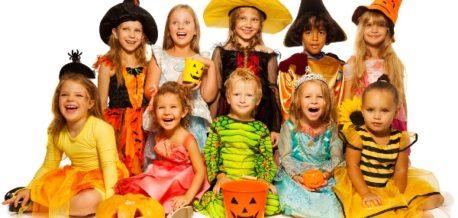 Group Of Halloween Kids