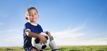 Kid And Football