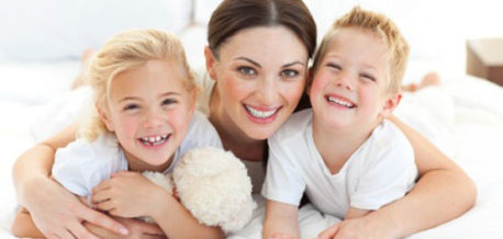 Mother With Happy Children